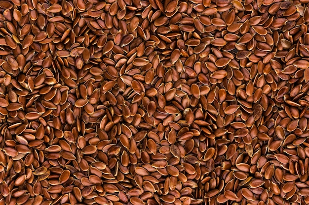 Flax seeds background Premium Photo