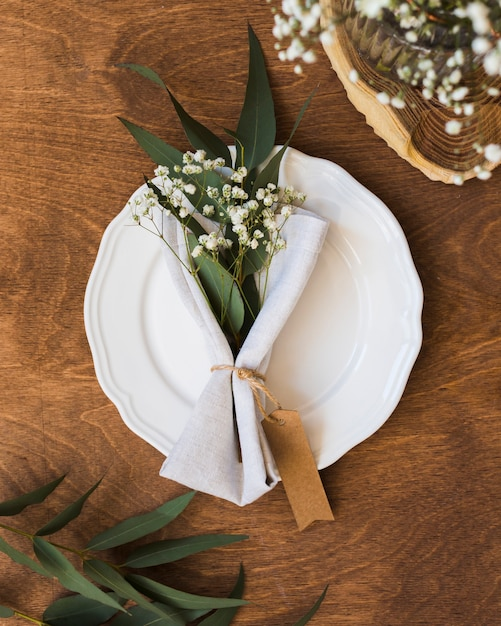 Flay lay table arrangement Free Photo