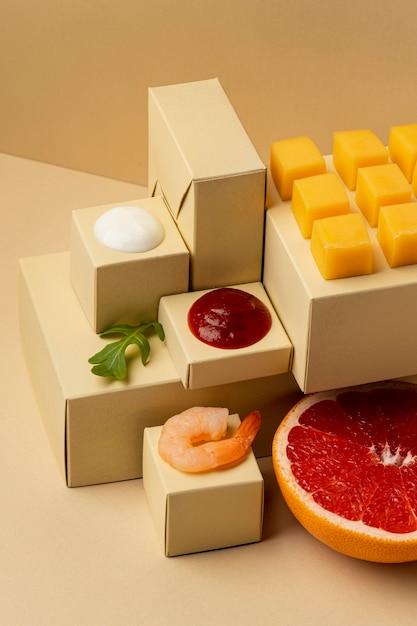 새우 구색을 사용한 Flexitarian 다이어트 무료 사진