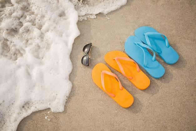 Flip Flops, Sunglasses And Starfish In Sand Photo  Free -2294
