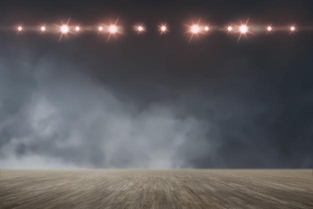 Floor with bright spotlights Premium Photo