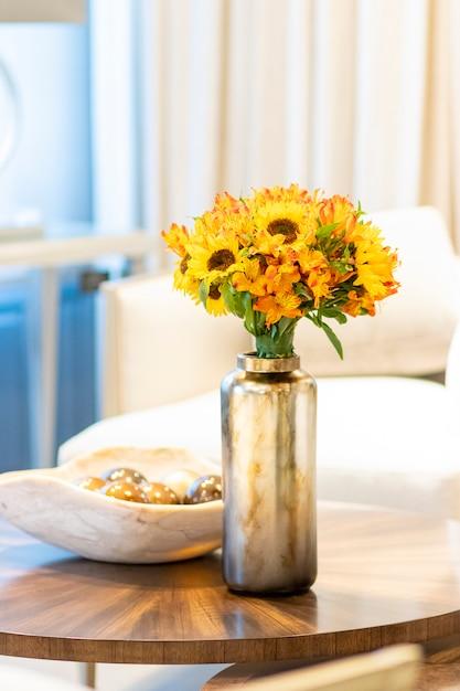 home decor silk floral arrangement floral decor tropical.htm floral arrangement of sunflowers decorating the living room of the  sunflowers decorating the living room