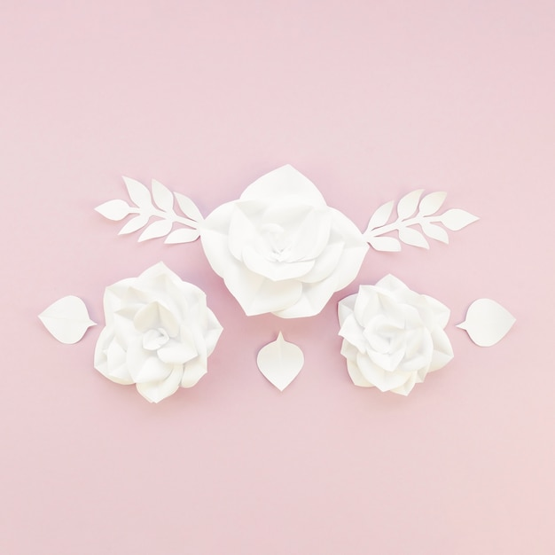 Floral decoration on pink background Free Photo