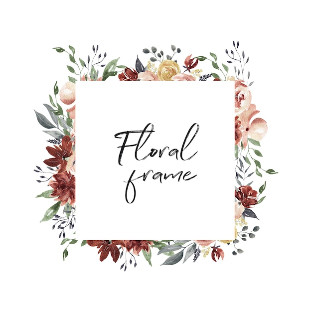 Floral frame Premium Photo