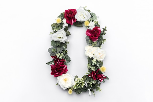 Flower letter o floral monogram free photo Free Photo