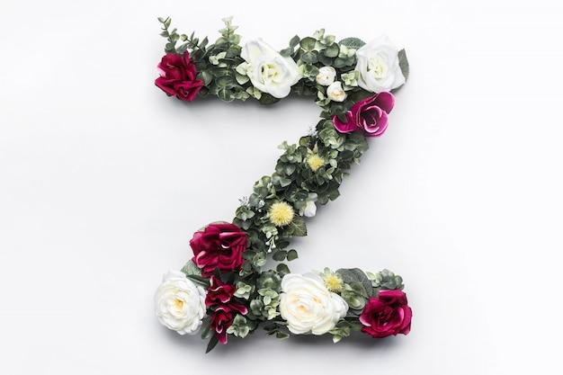 Flower letter z floral monogram Free Photo
