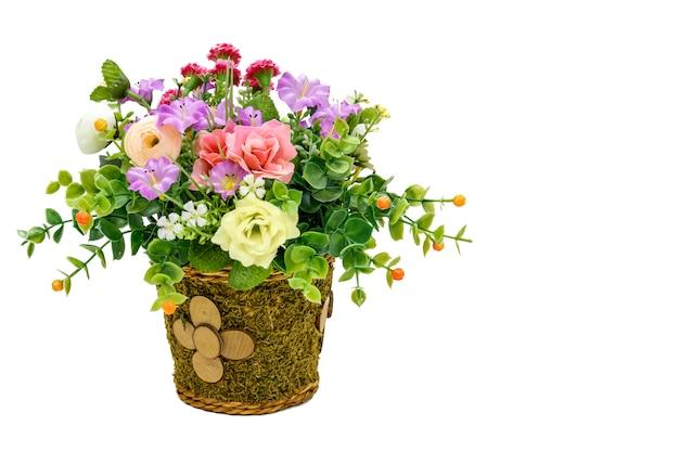 Flower on office desks Premium Photo