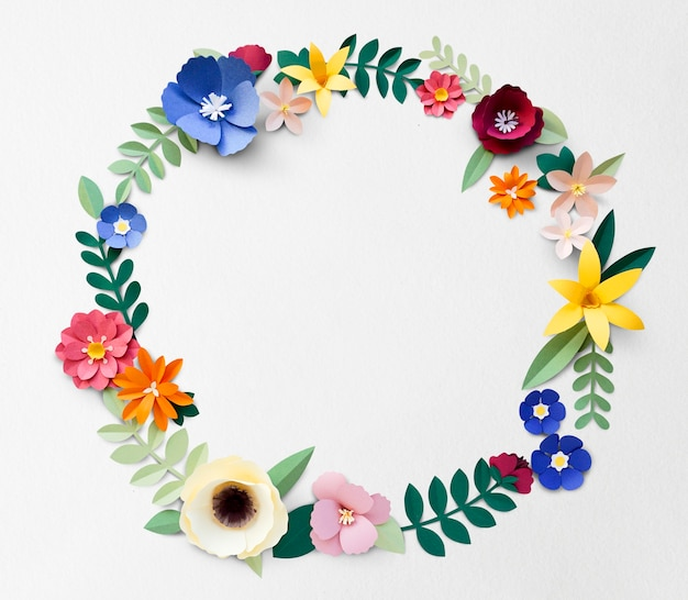 Flower Paper Craft Handmade Collection Photo Premium Download