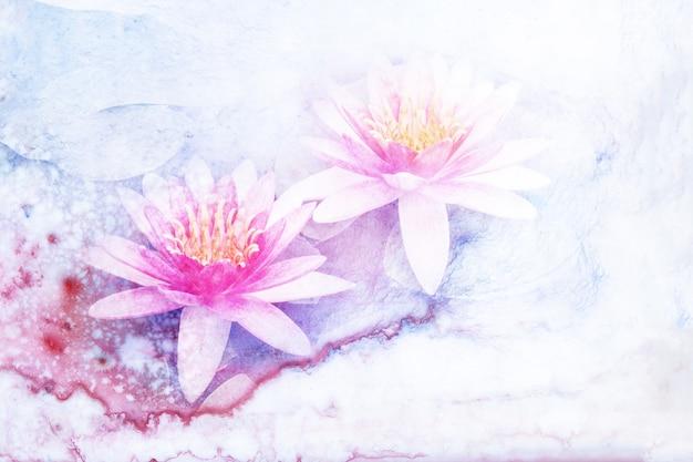Flower watercolor illustration. Premium Photo