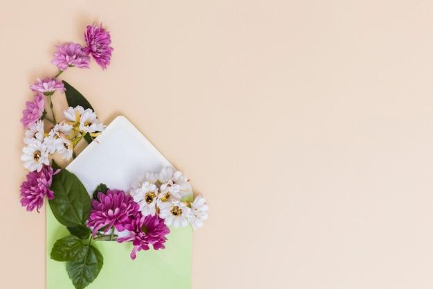 Flowers arrangement in envelope Free Photo