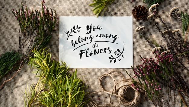 Flowers handicraft workshop Free Photo