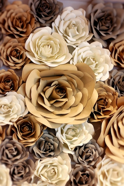 Flowers Wallpaper Decoration Made From Mulberry Paper In Wedding