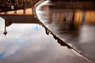 Flowing water abstract  town Free Photo