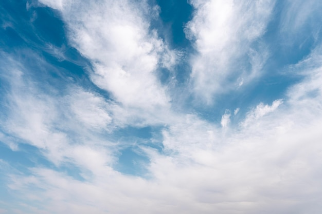 Fluffy clouds on a windy sky Free Photo