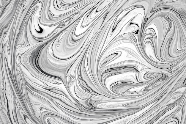 Fluid Art Techniqie Black And White Liquid Painting Paper