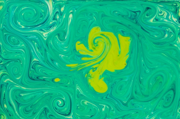 Fluid painting abstract green paint texture art Free Photo