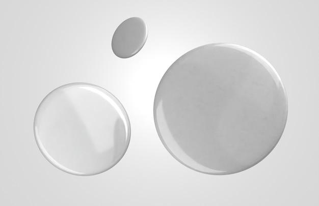 Distintivi 3d bianchi in bianco volanti Foto Gratuite