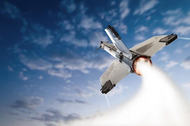 Взлетающая боевая ракета. Premium Фотографии