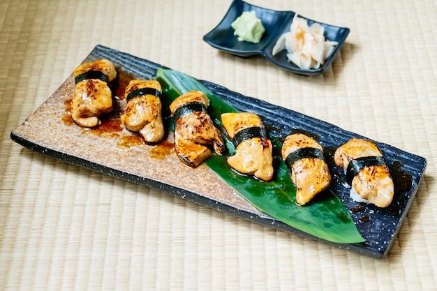 Foie gras sushi set Free Photo