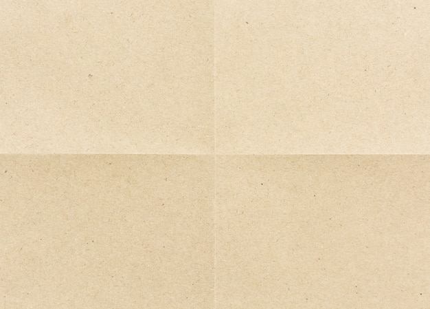 Folded for four part brown paper Premium Photo