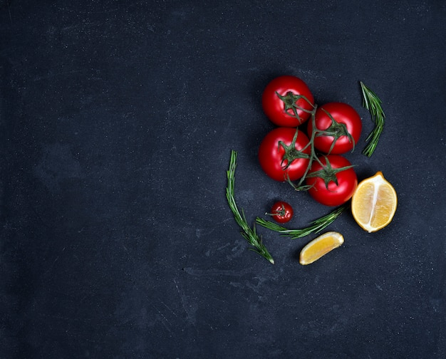 Food background with cooking ingredients Premium Photo