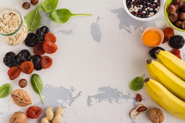 Food containing potassium Premium Photo