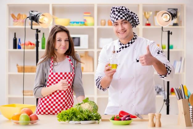 Food cooking tv show Premium Photo