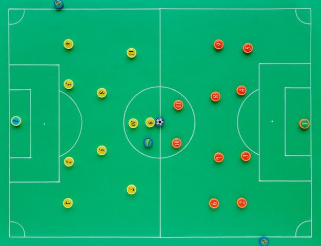 Football background with tactics concept Premium Photo