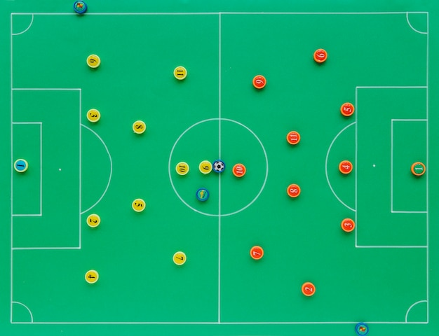 Football background with tactics concept Free Photo
