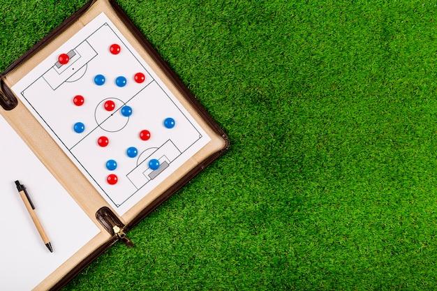 Футбольная композиция с доской и копированием Бесплатные Фотографии