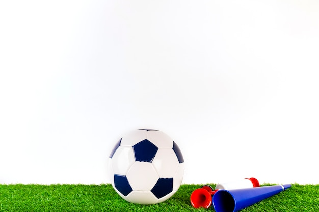 Football composition with copyspace on top Free Photo