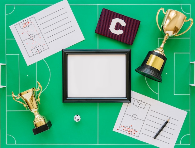Football concept with frame Free Photo
