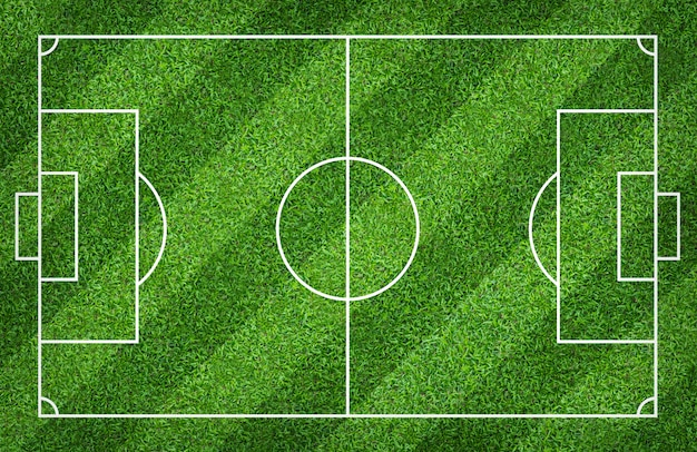 Football field or soccer field for background. green lawn court for create game. Premium Photo