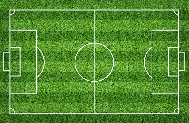 Football field or soccer field for background Premium Photo