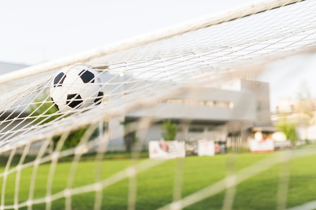 Football in goal Free Photo