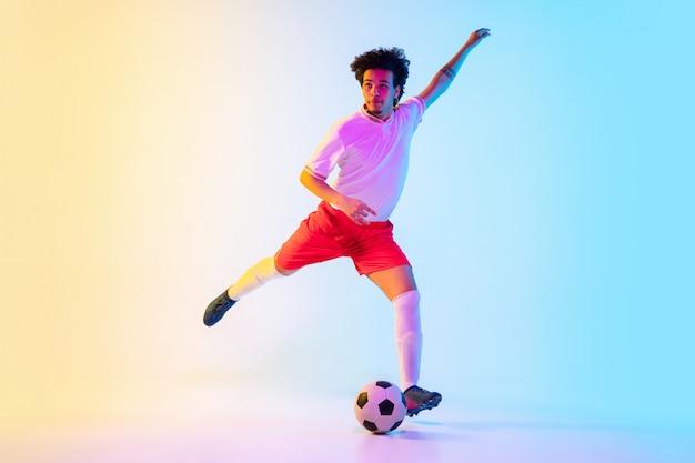 Футбол или футболист - движение, действие, концепция деятельности Бесплатные Фотографии