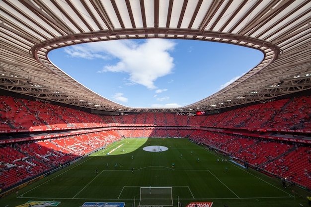 Football stadium of the city of bilbao in spain, known under the name of san mames Premium Photo