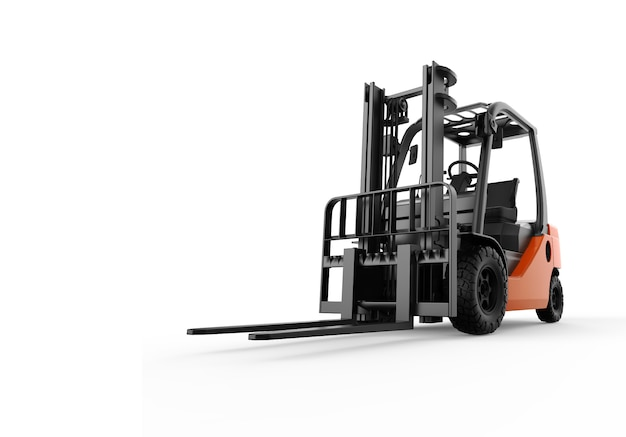 Forklift isolated on white Premium Photo