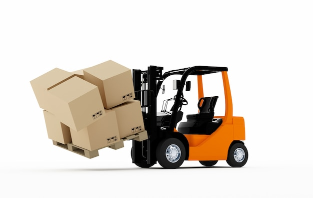 Forklift Premium Photo