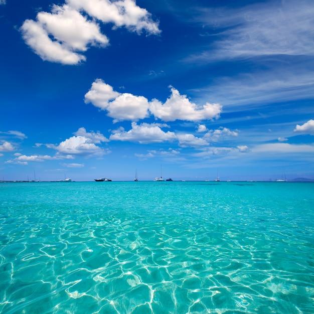 Formentera illetes illetas tropical beach near ibiza Premium Photo