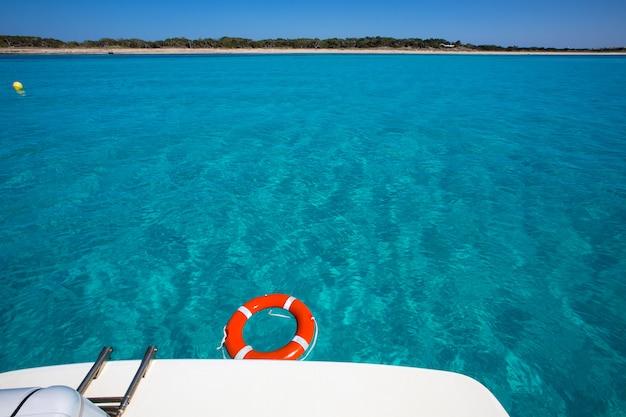 Formentera illetes illetas with round buoy Premium Photo