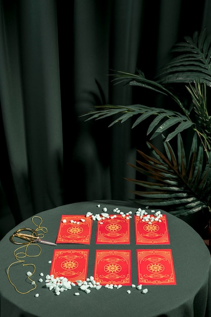 Fortune telling red tarot cards Photo   Free Download