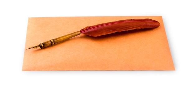 Fountain pen and envelope for writing Premium Photo