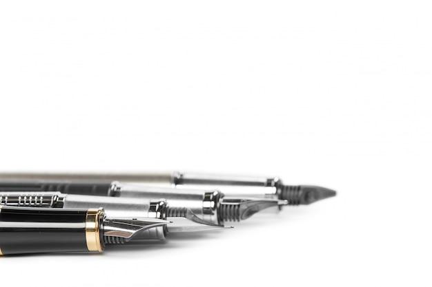 Fountain pen isolated on white background Premium Photo
