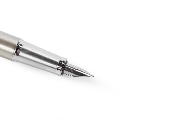 Fountain pen isolated on white Premium Photo