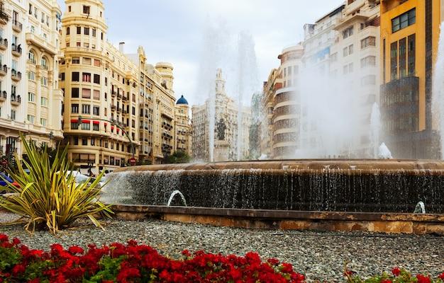 Fountain at placa del ajuntament in valencia Free Photo