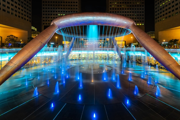 Fountain of wealth is biggest fountain in singapore. Premium Photo