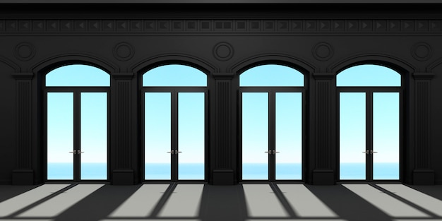 Four arched door Premium Photo