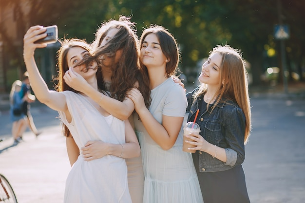 four beautiful girls Free Photo