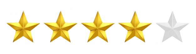 Premium Photo   Four out of five stars rating